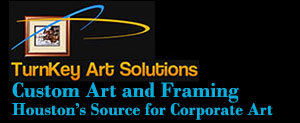Custom art picture framing, Houston Corporate Art