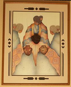 Pena - Custom Art and Framing Example