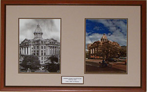 Houston Court House - Then and Now