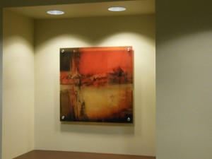 Corporate Art - Art Piece Mounted Using Standoffs