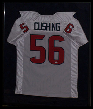 Shadowbox - Custom Framed Bryan Cushing Autographed Jersey