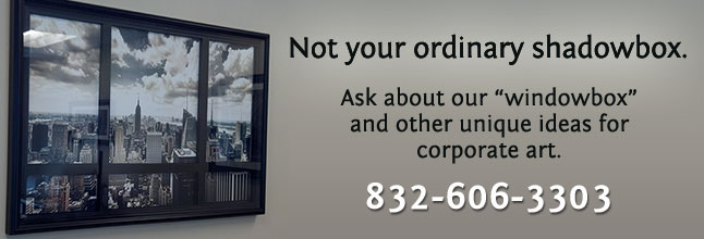 Unique corporate art products - The Windowbox, not your ordinary shadowbox.