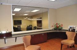 Custom Etched Glass Office Decor