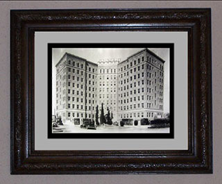 Art for Corporate Projects: Image of Plaza Hotel ca. 1930s, Steve Besselman Ltd. edition