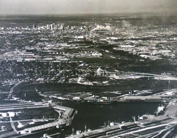 Ship Channel Turning Basin 1949 - Houston, Texas