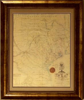 Houston Texas Vintage Photos Maps TurnKey Art Solutions - Vintage texas map framed
